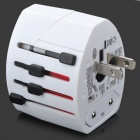 Compact Universal Travel Power Plug Adapter - White