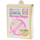 Calorie Off Massage Shaper Elastic Slimming Belt - Size L