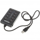 USB 2.0 High Speed 10-Port HUB - Black