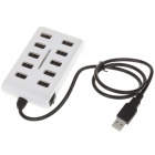 USB 2.0 High Speed 10-Port HUB - White