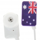 Stylish National Flag Style Noise Isolation In-Ear Earphones - Australia (3.5mm Jack/95CM-Cable)