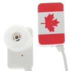 Stylish National Flag Style Noise Isolation In-Ear Earphones - Canada (3.5mm Jack/95CM-Cable)