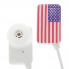 Stylish National Flag Style Noise Isolation In-Ear Earphones - USA (3.5mm Jack/95CM-Cable)