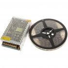 72W 3500K 300x5050 SMD LED Strip Light Warm Flexible Blanca con interruptor de alimentación (5-Meter/DC 12V)