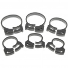 Round PVC Adjustable Cord Ring Clamp Ties - Black (6-Piece Pack)