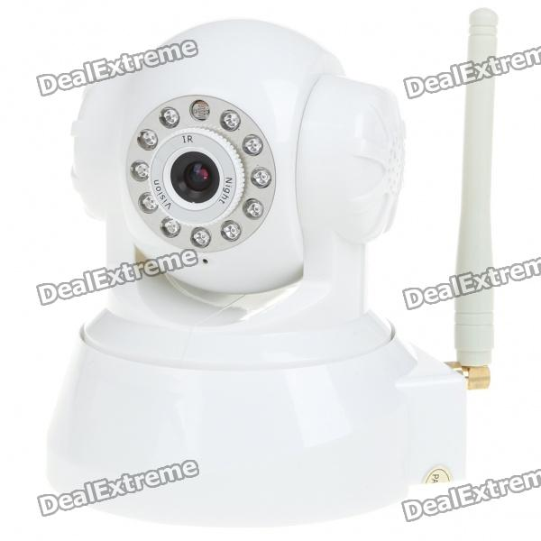 Wireless 3G Remote Pan/Tilt 300 KP CCTV Camera with 11-IR Night Vision/Microphone/TF