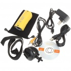 RD32 5.0 Mega Pixels HD 720P Waterproof Action Video Camera with 8-LED Night Vision - Yellow (TF)