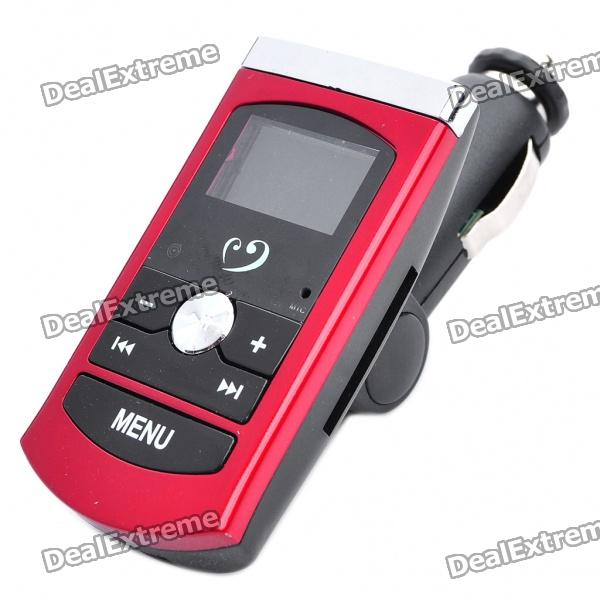 1.0 LCD Car MP3 Player FM Transmitter with Remote Controller/SD/USB Host (DC 12~24V)