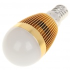 E14 3W 1-LED 260 Lumen 6500K White Light Bulb (AC 85~245V)