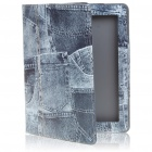 Stylish Jeans Stripes Style Protective PU Leather Case for Apple iPad 2