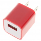 USB Power Adapter/Charger for iPod Series/iPhone/3G/4 - Red (100~240V/US Plug)