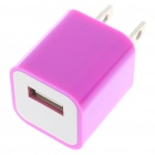 USB Power Adapter/Charger for iPod Series/iPhone/3G/4 - Purple (100~240V/US Plug)