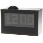 "4.8"" LCD Multicolored Backlit Digital Projection Clock - Black (3 x AAA)"