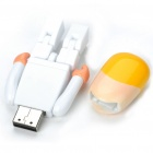Pen Drive USB 2.0 con forma de Bonito Robot Cartoon - Blanco (8GB)