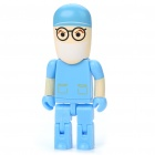 Cute Cartoon Robot Abbildung Stil USB 2.0 Flash / Jump Drive - Blue (2GB)