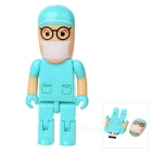 Cute Cartoon Robot Figure Style USB 2.0 Flash/Jump Drive - Blue (4GB)