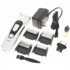 Rechargeable Hair Clipper with Accessories Set - White (220V AC)