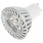 GU10 3W 3-LED 260 Lumen 3500K Warm White Light Bulb (AC 85~245V)