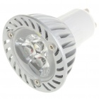 GU10 3W 3-LED 260 Lumen 6500K White Light Bulb (AC 85~245V)