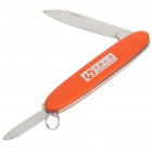 Mini Stainless Steel Manual-Release Dual-Blade Folding Knife with Key Ring - Color Assorted