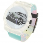 Stylish Waterproof Transparent Resin Watch - Car Pattern (1 x 377)