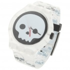 Stylish Waterproof Transparent Resin Watch - Skull Pattern (1 x 377)
