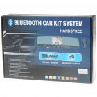 Bluetooth Handsfree Rearview Mirror + Rearview Camera + Parking Sensor/Radar Kit (DC 12~24V)