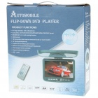 "Flip-down 9"" LCD DVD Media Player with FM/AV In & Out/TV/SD/USB"