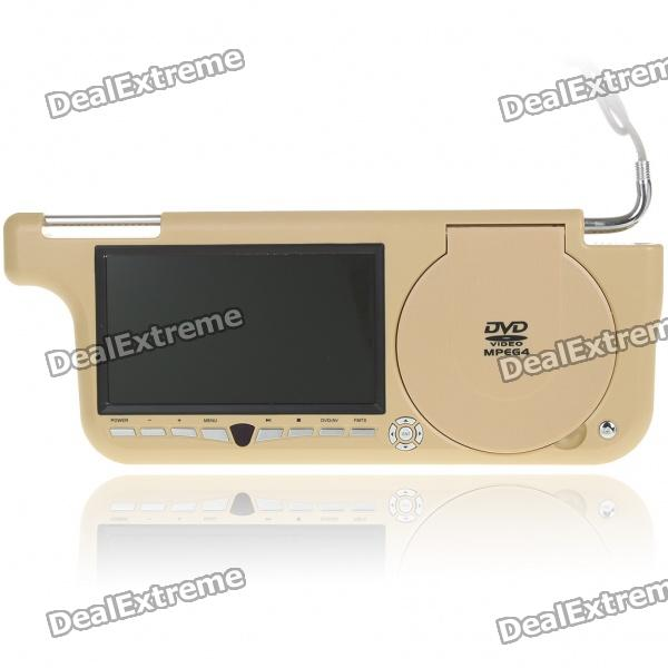 "Car Sun Visor 7"" LCD DVD Media Player with FM/AV In & Out/SD/USB"