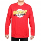 The Big Bang Theory Series Bazinga Long Sleeve T-shirt - Red (Size XL)