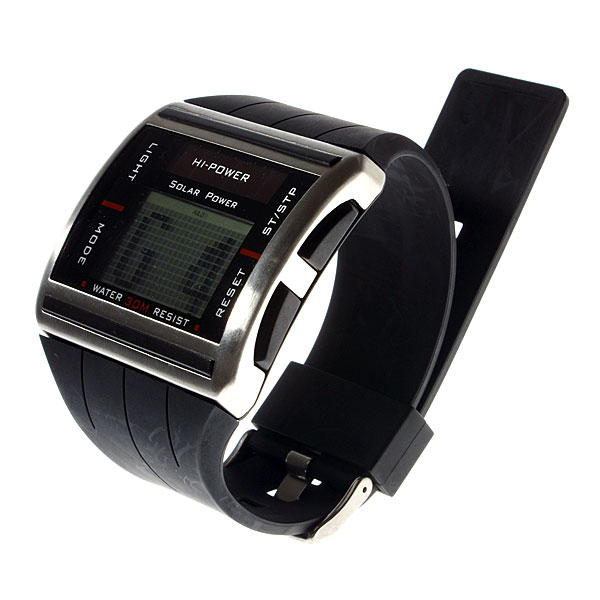 Coole Dot Matrix Display Solar-Armbanduhr