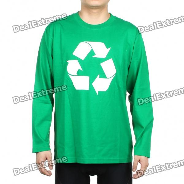 The Big Bang Theory Series Recycle Logo Long Sleeve T-shirt - Green (Size XXL)