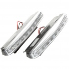 2W 6000K 8-LED 48-Lumen White Light Daytime Running Lâmpadas para carro (Pair / DC 12V)
