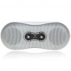 Mini Fashion Portable USB Rechargeable MP3 Music Speaker with FM/SD Slot - White