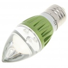 E27 3W 80-Lumen Candle Style 3-LED Blue Light Bulb (220V)