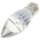 E27 3W 200-Lumen Candle Style 3-LED Green Light Bulb (220V)