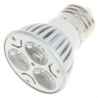 E27 3W 240-260Lumen 6000-6500K White LED Light Bulb (85~245V)