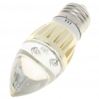 E27 3W 120-150Lumen Candle Style Red LED Light Bulb (85~245V)