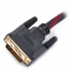 1080P 24+1 Pins DVI Male to HDMI Male Connection Cable (5M)