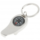 Compact 3-in-1 Alloy Compass + Opener + Keychain Kit Tool