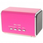 Mini Portable USB Rechargeable MP3 Music Player Speaker with FM/USB/TF - Deep Pink