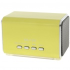 Mini Portable USB Rechargeable MP3 Music Player Speaker with FM/USB/TF - Green