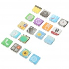 Iphone App Icon Fridge Magnets Set - Style/Color Assorted (18-Piece Set)