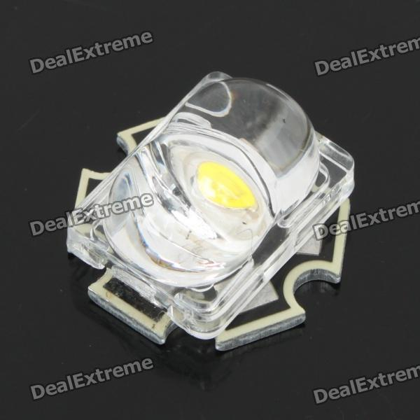 1W 7000K 70LM White LED Streetlight Emitter Metal Plate with Optical Lens (3.5V)