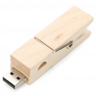 Wooden Clothespin Style USB 2.0 Flash/Jump Drive (4 GB)