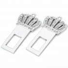 Stylish Crown Universal Stainless Steel Safety Seat Belt Buckles (Pair)