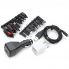 Universal USB/AC/Car Powered Cell Phone Charger Adapters