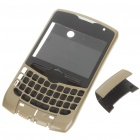 Replacement Plastic Housing Case for BlackBerry 8350 - Golden