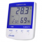 Large LCD Desktop Digital Thermo-Hydrometer Clock