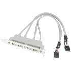 4-Port USB Rear Bracket Adapter for Desktop Computer (20 CM-Cable)